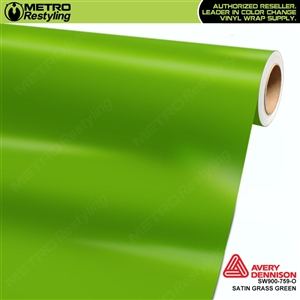 Avery SW900-759-O Satin Grass Green vinyl wrap film ideal for car wraps.