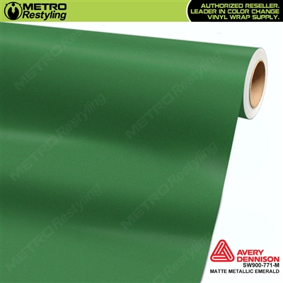 Avery Dennison SW900-771-M Supreme Wrapping Film Matte Emerald Metallic car wrap film
