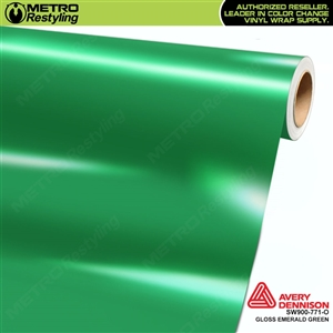 Avery SW900-771-O Gloss Emerald Green vinyl wrap film ideal for car wraps.