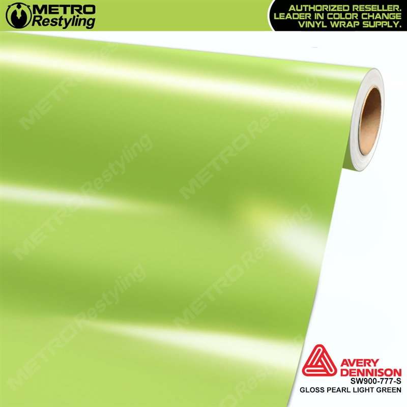 Avery Sw900 777 O Gloss Light Green Pearl Vinyl Wrap Film Ideal For Car