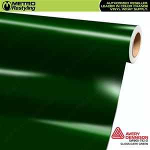 Avery SW900-792-O Gloss Dark Green vinyl wrap film ideal for car wraps.