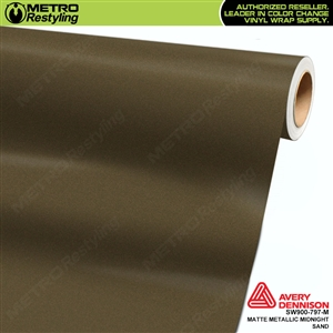 Avery Dennison SW900-797-M Supreme Wrapping Film Matte Midnight Sand Metallic car wrap film.