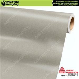 Avery Dennison SW900-805-M Supreme Wrapping Film Satin Silver Metallic car wrap film.