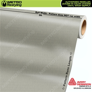 Avery SW900 Supreme Wrapping Vinyl Film Brushed Aluminum Metallic
