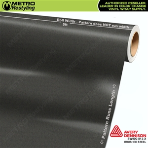 Avery Dennison SW900-813-X Brushed Steel Metallic car wrapping film
