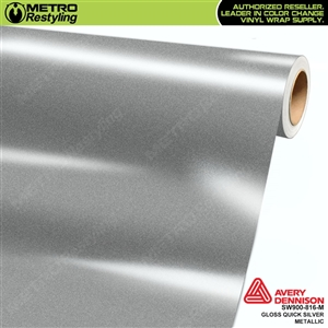 Avery SW900-816-M (old SKU SW900-814-M) Gloss Quick Silver Metallic vinyl wrap film ideal for car wrapping.