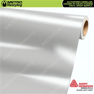 Avery SW900-815-O Gloss Light Grey vinyl wrap film ideal for car wraps.