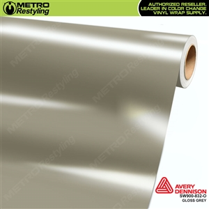 Avery SW900-832-O Gloss Grey vinyl wrap film ideal for car wraps.