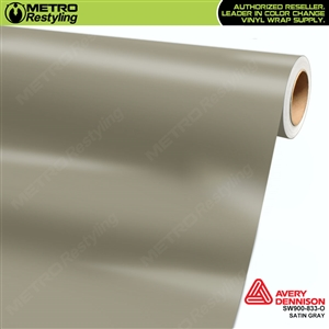 Avery SW900-833-O Satin Gray vinyl wrap film ideal for car wraps.