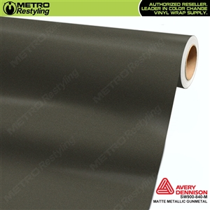 Avery Dennison SW900-840-M Supreme Wrapping Film Matte Metallic Gunmetal car wrap film.