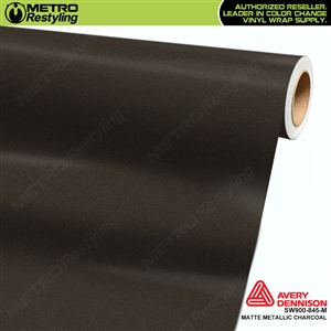 Avery Dennison SW900-845-M Supreme Wrapping Film Matte Metallic Charcoal car wrap film.
