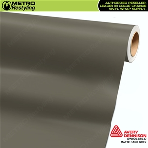 Avery SW900-856-O Matte Dark Grey wrap vinyl film ideal for car wraps.