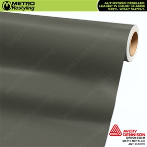 Avery Dennison SW900-858-M Supreme Wrapping Film Matte Anthracite Metallic car wrap film.