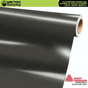 Avery SW900-865-O Gloss Dark Grey vinyl wrap film ideal for car wraps.