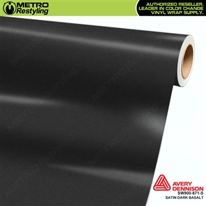 Avery SW900-871-S Satin Dark Basalt vinyl wrap film ideal for car wraps.