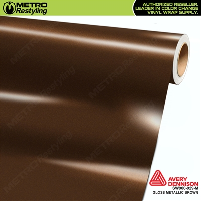Avery SW900-929-M Gloss Brown Metallic vinyl wrap film ideal for car wrapping.