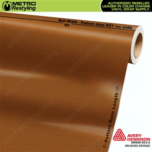 Avery Dennison SW900-933-X Brushed Bronze Metallic car wrapping film