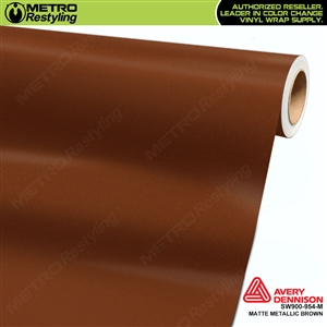 Avery Dennison SW900-954-M Supreme Wrapping Film Matte Brown Metallic car wrap film.