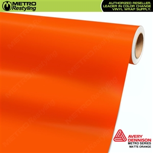 Avery SW900 Matte Orange wrap vinyl film ideal for car wraps.