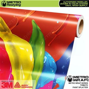 Metro Tomato Paint Splatter Vinyl Vehicle Wrap Film