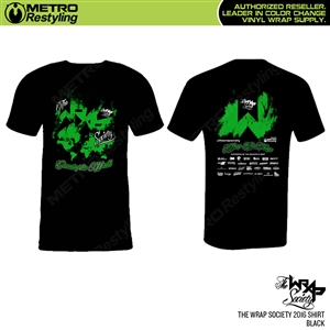 The Wrap Society 2016 Shirt Powered by Metro Restyling
