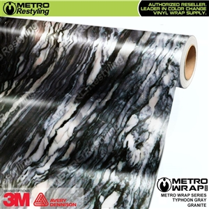 Metro Typhoon Gray Granite Vinyl Wrap Film