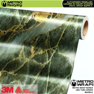 Metro Uba Tuba Green Marble Vinyl Car Wrap Film