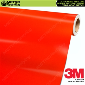 3M Neon Wrap Film | Satin Neon Orange | VCW17074