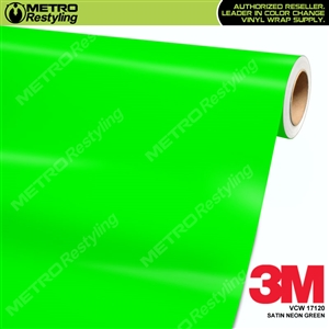 3M Neon Wrap Film | Satin Neon Green | VCW17120
