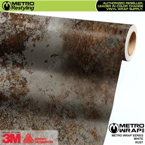 Metro White Rust Vinyl Wrap Film