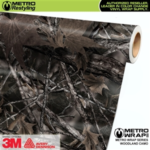Woodland Camouflage Car Wrap Vinyl