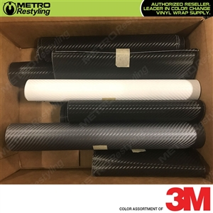 3M Scotchprint 1080 Carbon Fiber Vinyl Vehicle Wrap Remnants