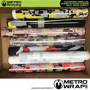 Metro Camouflage Vinyl Wrap Assorted Remnants