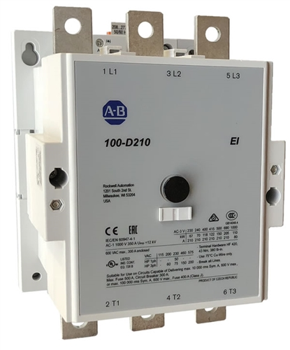 Allen dley 100-D210 | 3 pole 210 AMP AC contactor on
