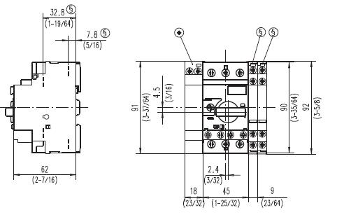 Allen Bradley 140M-C2E-B63 Manual Motor starter that is