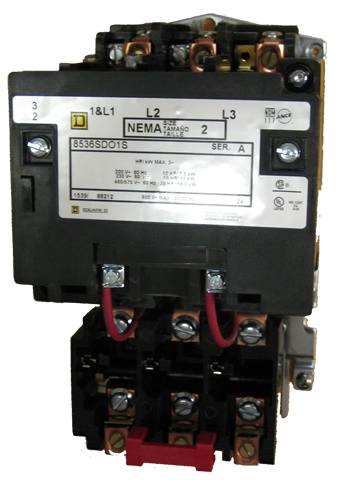 SQUARE D Motor Starter class 8536 2 hp max NEMA size 00 3 phase