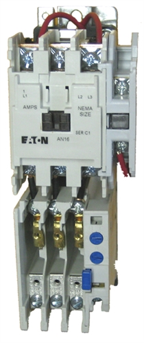 Eaton AN16BNO 18 AMP NEMA Size 0 Starter with an AC rated coilIMC-Direct