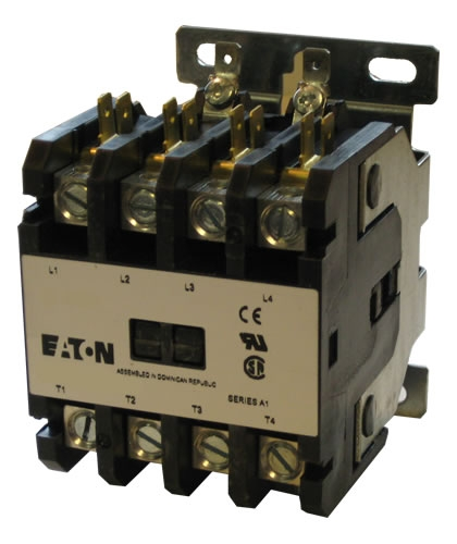 C25END430 Eaton Definite Purpose 4 pole Contactor rated at 30 AMPS on 4-way switch wiring diagram, single pole switch wiring diagram, lighting contactor diagram, 220v gfci breaker wiring diagram, 4-pole motor wiring, 2 speed motor wiring diagram, 4 pole switch diagram, single phase reversing contactor diagram, 4 pole trailer wiring diagram, single pole contactor diagram, 2 pole motor wiring diagram, 3 phase delta motor wiring diagram, solid state contactor wire diagram, magnetic motor starter wiring diagram, power pole wiring diagram, star delta motor starter wiring diagram, hvac fan relay wiring diagram,