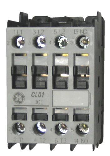 ge cl01a310t1 contactor rated at 7 5 h p 480v 1 no base contact