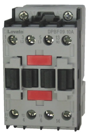 DPBF0910A 2?1458812494 lovato dpbf0910a contactor with 1 n o base contact and an ac square d definite purpose contactor wiring diagram at gsmx.co