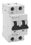 Moeller FAZ two pole 2 AMP circuit breaker