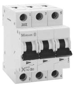 Faz C50 3 Circuit Breaker Manufactured By Eaton 3 Pole