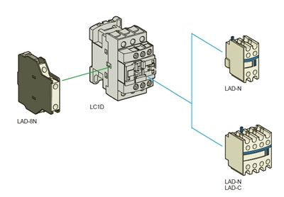 LAD8N11 4?1350464491 lad8n11 contact block for schneider electric lc1d contactors schneider electric lc1d18 wiring diagram at bayanpartner.co