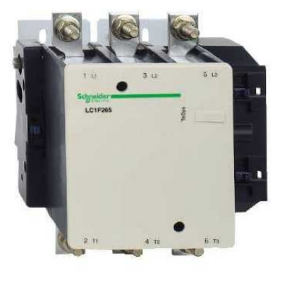 schneider electric lc1f265u7 3 pole 265 amp contactor with ... 3 phase ac contactor wiring diagram #2