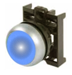 Eaton M22-DL-B Blue Illuminated Pushbutton