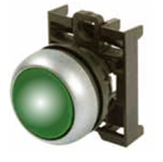 Eaton M22-DL-B Green Illuminated Pushbutton