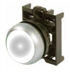 Eaton M22-DL-W White Illuminated Pushbutton