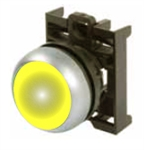 Eaton M22-DL-Y Yellow Illuminated Pushbutton