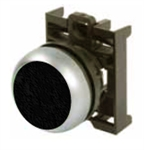 Eaton M22-DR-S Black Maintained Pushbutton