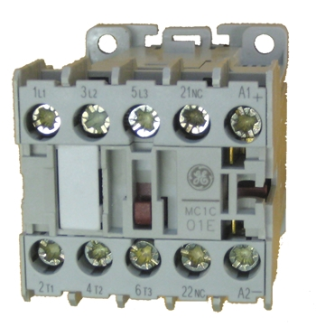 ge contactor wiring 460v 3 phase ge mc1c 01e miniature 3 pole contactor rated at 5 h p   480v  1  ge mc1c 01e miniature 3 pole contactor